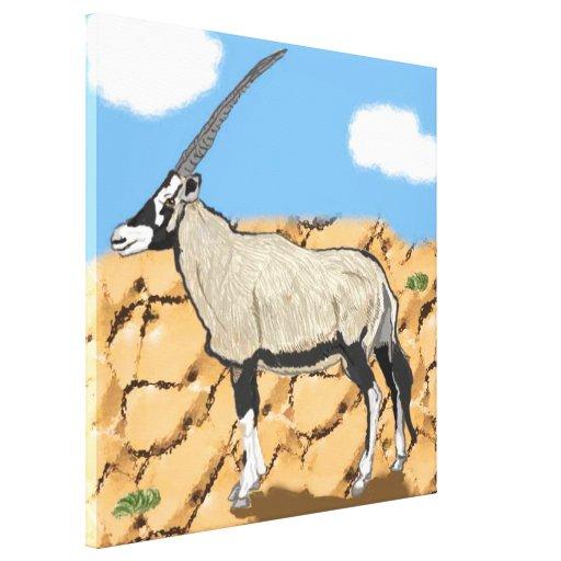 Arabian Oryx Canvas Print