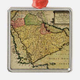 Arabian Peninsula of the Middle East Map Christmas Tree Ornament