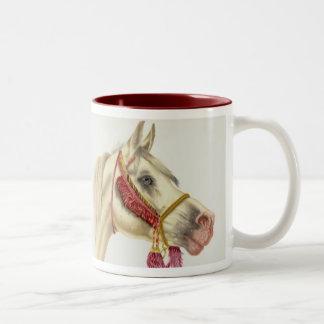 Arabian Stallion Two-Tone Coffee Mug