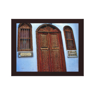 Arabian Wood Art Canvas Print