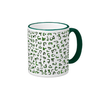 Arabic alphabet ringer mug