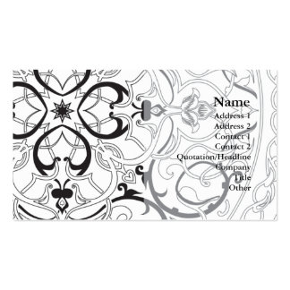 arabic background pattern business card