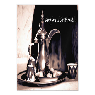Arabic Coffee Pot Magnet card Dallah & Dates Magnetic Invitations