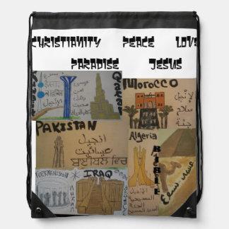 Arabic cultures/languages christian bag drawstring backpack