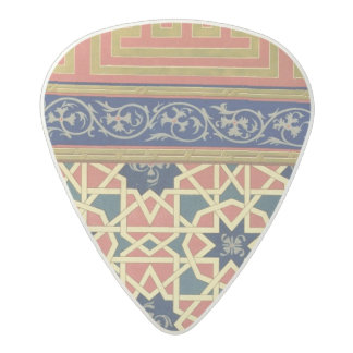 Arabic decorative designs (colour litho) acetal guitar pick