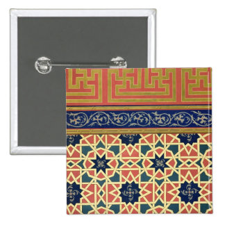 Arabic decorative designs (colour litho) button