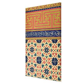 Arabic decorative designs (colour litho) stretched canvas prints