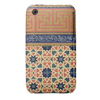Arabic decorative designs (colour litho) Case-Mate iPhone 3 cases