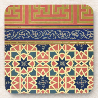 Arabic decorative designs (colour litho) coaster