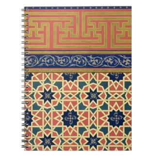 Arabic decorative designs (colour litho) notebook