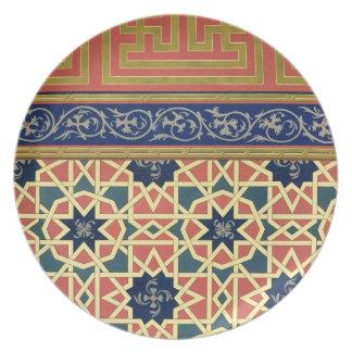 Arabic decorative designs (colour litho) party plates