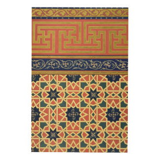 Arabic decorative designs (colour litho) wood print