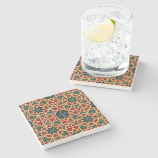 Arabic Design #1 at Emporio Moffa Stone Beverage Coaster