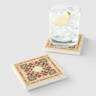 Arabic Design #9 at Emporio Moffa Stone Beverage Coaster