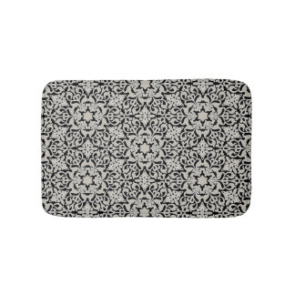 Arabic floral pattern bath mat