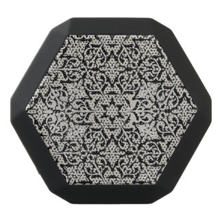 Arabic floral pattern black bluetooth speaker