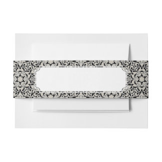 Arabic floral pattern invitation belly band