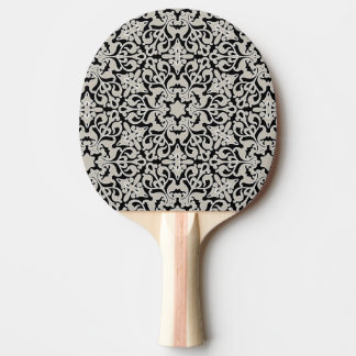 Arabic floral pattern ping pong paddle