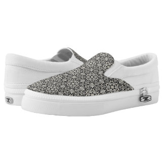 Arabic floral pattern slip on shoes
