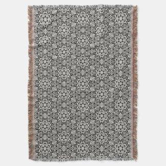 Arabic floral pattern throw blanket