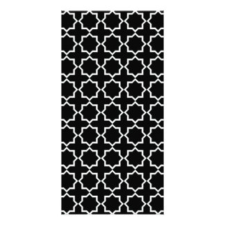 Arabic Moroccan Lattice in Black and White Card