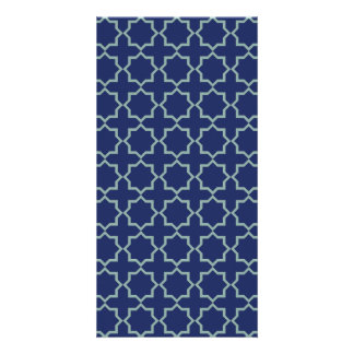 Arabic Moroccan Lattice in Midnight Blue Card
