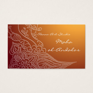 Arabic oriental henna style business card