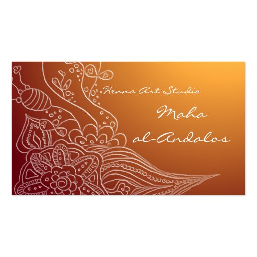 Arabic oriental henna style business card