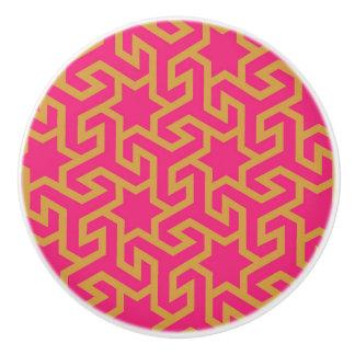 Arabic Star Shaped Pattern Ceramic Knob