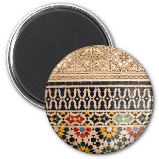 Arabic Texture Tiles 6 Cm Round Magnet