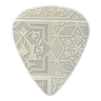 Arabic tile designs (colour litho) acetal guitar pick