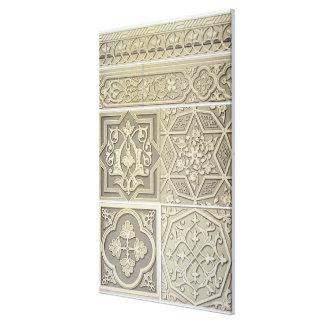 Arabic tile designs (colour litho) canvas print