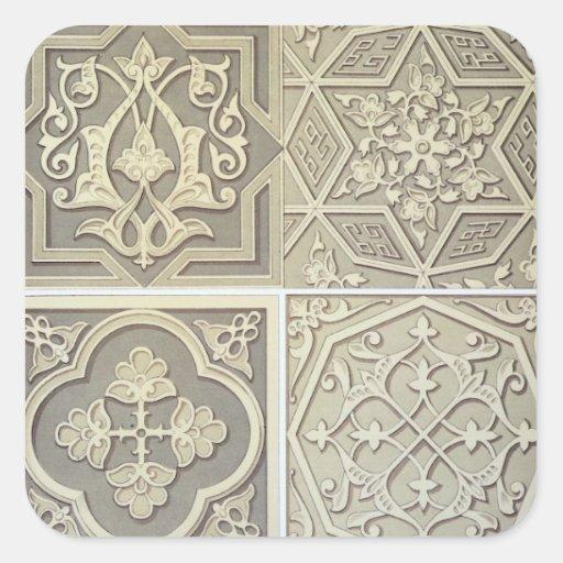 Arabic tile designs (colour litho) stickers