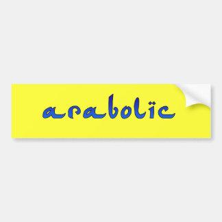 arabolic bumper sticker