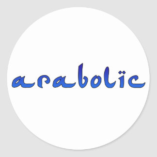 arabolic round sticker