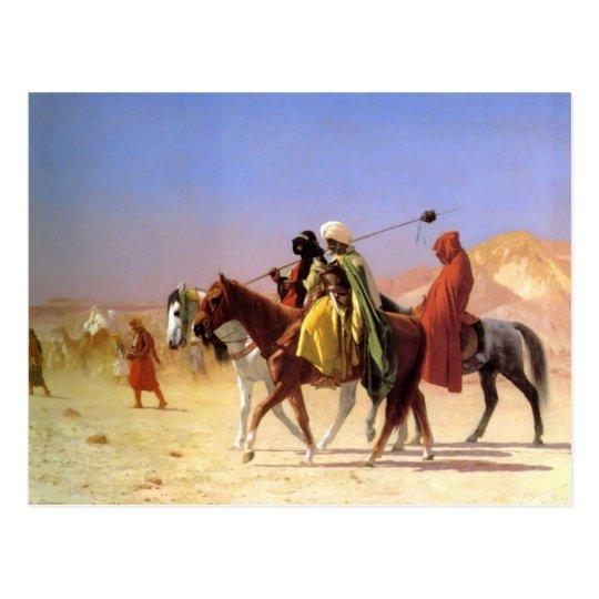 Arabs Crossing the Desert by Gerome Postcard