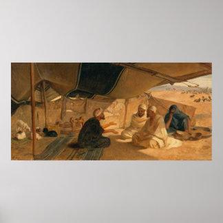 Arabs in the Desert, 1871 Print