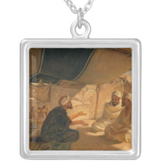 Arabs in the Desert, 1871 Silver Plated Necklace