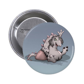 ARACO ALIEN MONSTER CARTOON  Button 2¼ Inch