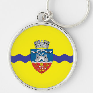 arad city flag romania symbol key ring