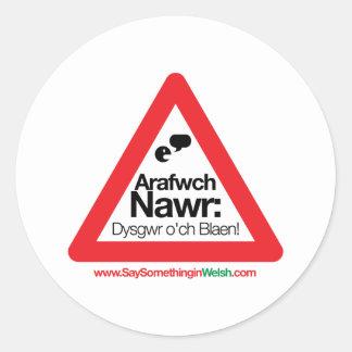 ARAFWCH CLASSIC ROUND STICKER