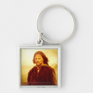 Aragorn Glowing Silver-Colored Square Key Ring