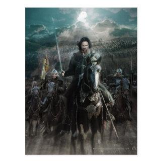 Aragorn Leading on Horse Postcard