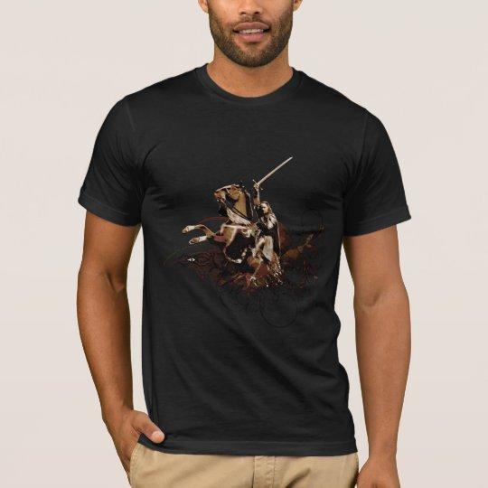 Aragorn Riding a Horse Vector Collage T-Shirt