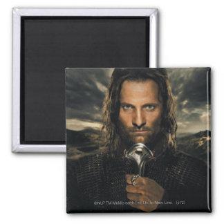 Aragorn Sword Down Square Magnet