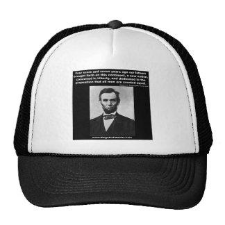 Araham Lincoln's Gettysburg Address Trucker Hats