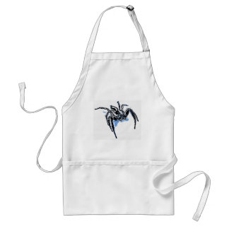 Aranha azul Blaue Spinne Blaue Spinne Araignée ble Adult Apron
