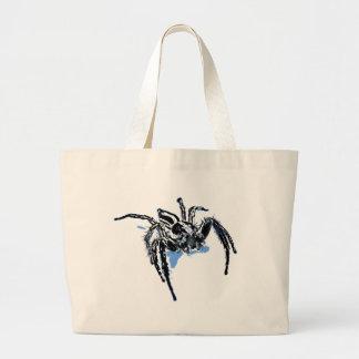 Aranha azul Blaue Spinne Blaue Spinne Araignée ble Canvas Bag