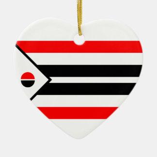 Arapaho Flag Ceramic Heart Decoration