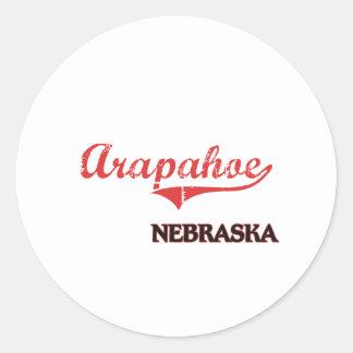 Arapahoe Nebraska City Classic Round Sticker